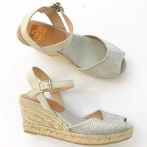 Kanna Wedge Sandals Heels NEW size 37 7 Evita